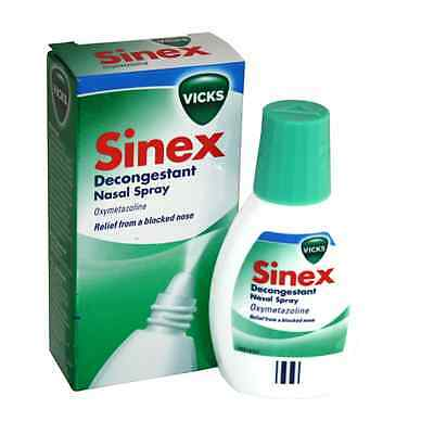Vicks Sinex Decongestant Nasal Spray - 20ml Relief From A blocked Nose