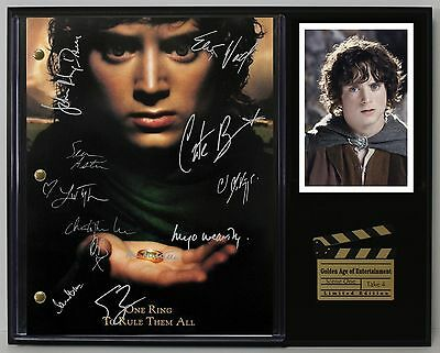 The Lord Of The Rings Reprinted Autograph Hollywood Script Display US Ships Free
