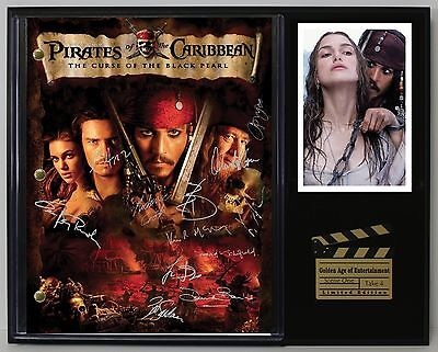 Pirates of the Caribbean - Reprinted Autograph Script Display - USA Ships Free