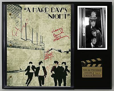 The Beatles A Hard Days Night Autograph Reprint Script Display - USA Ships Free