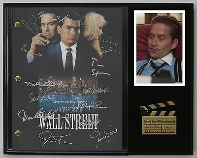 Wall Street - Reprinted Autograph  Movie Script Display - USA Ships Free