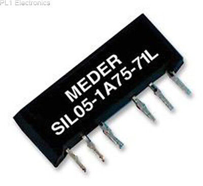 Standexmeder - Sil05-1A72-71L - Relay, Reed, Spst, 5Vdc, 1A, Sil