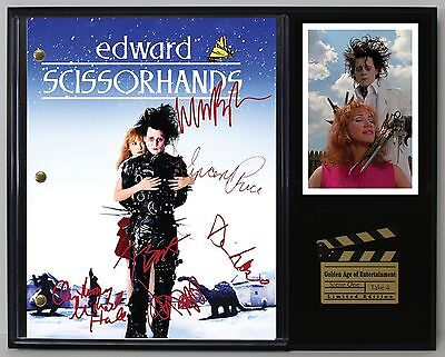 Edward Scissorhands - Autograph Reprint Movie Script Display - USA Ships Free