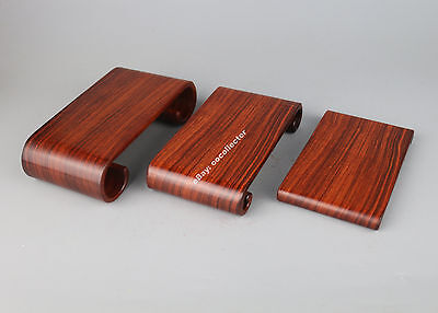 display stand pedestal red suan-zhi wood rosewood new china rectangle base #1