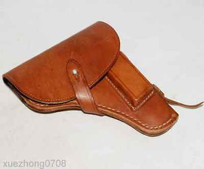 Surplus Vintage Chinese Type 59 Makarov Pistol Leather Holster Color Brown
