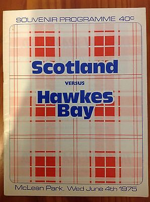 Hawkes Bay v Scotland 1975 Rugby Programme