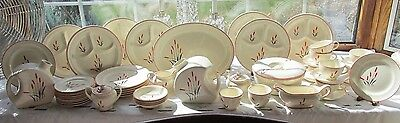 50 Pcs Universal Ivory Sears Harmony House Cattails Dinner Set +More
