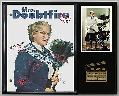 Mrs Doubtfire - Autograph Reprint Movie Script Display - USA Ships Free