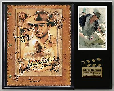 Indiana Jones - Reprinted Autograph Movie Script Display - USA Ships Free