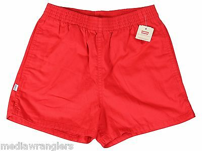 "NEW VTG 80s LEVIS Red SHORT SHORTS 33"" Waist Youth XL Adult Medium NWT Deadstock"