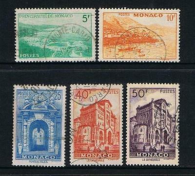 STAMPS  MONACO 1949 SCENIC  (FU)  lot A102