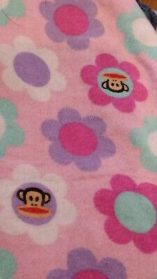 Pink flower monkey  Nursing pillow cover,  fits boppy pillow