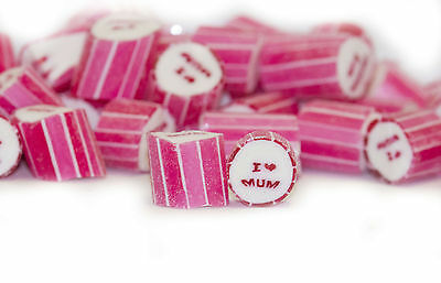 500g I Love Mum Rock Candy bulk lollies Mothers Day Party Wedding Favours
