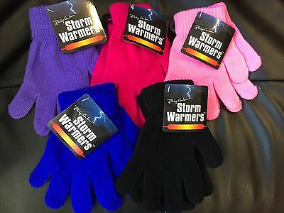 Boys Girls Unisex Childrens Winter Magic Gloves Stretchy Knitted