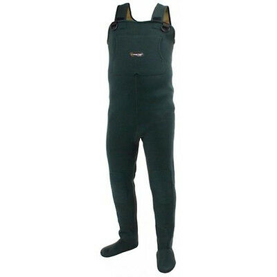 Frogg Toggs 2713143 Amphib Neoprene St/Ft Wader Forest Green XL NEW