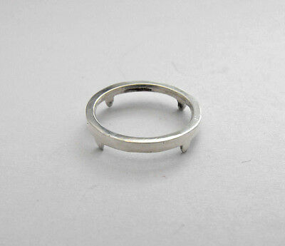 Custom Made Sterling Silver 925 Solid Smooth Plain Boarder Coin Frame Bezel