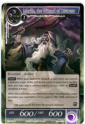 Merlin, the Wizard of Distress - SKL-072 - R - 1st Edition NM-Mint Force of Will