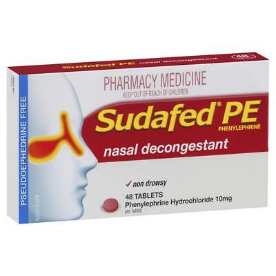 ツ Sudafed Pe Nasal Decongestant 48 Tablets Blocked Runny Nose Relief