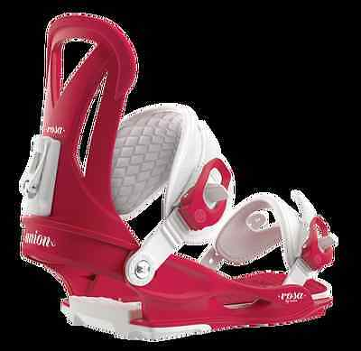 Union Rosa Raspberry Attacchi Donna Fw 2016 M New Bindings Woman Snowboard