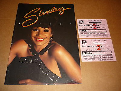 Shirley Bassey 1982 UK Tour Programme + 2 Tickets + Hand Signed Letter