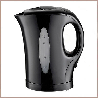 Cordless Water Boiling Kettle Black 1.7 Ltr LLoytron 2000W Washable Filter NEW