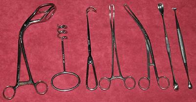 Lot Surgical Tools Sklar Towel Clamp Uterine Elevating Forceps Curette Retractor