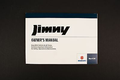 Genuine Suzuki Jimny SN HTOP Owners Manual 99011-81A2C-01E