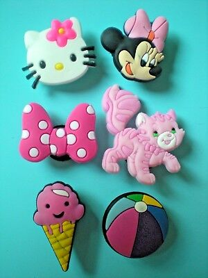 Jibbitz Croc Clog Shoe Charm Plugs Bands Belts Minnie Mouse Hello Kitty Lot
