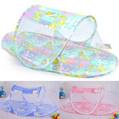 New Lovely Designs Portable Baby Bed Crib Folding Mosquito Net Durable Modeling