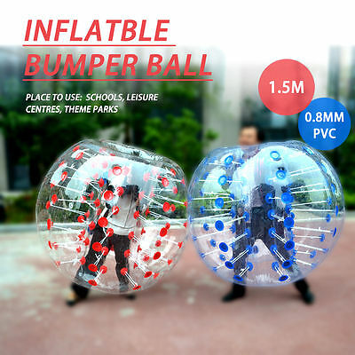 Bubble Football Inflatable Human Zorb Ball Bumper 1.5M For Adults And Kids