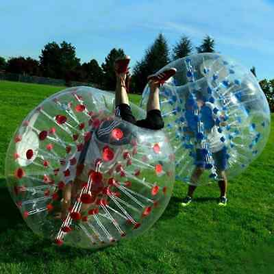 Hot Red And Blue Inflatable Bumper Bubble Body Zorb Ball Soccer Football 1.5M