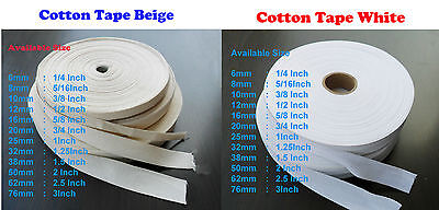 white Beige Cotton Bunting Apron Herringbone twill webbing tape sewing straps