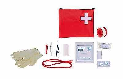 Pet First Aid Kit for Dogs & Cats Bandage Tick Tweezers Muzzle Loop Flea Comb