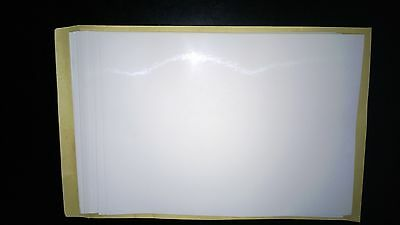 10SHEETS Glossy A4 Printable White Self Adhesive Sticker Paper Laser and Ink Jet