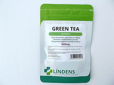 Lindens Green Tea Extract 1000Mg X 100 Tablets Weigh Loss Health Supplement