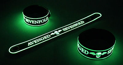 AVENGED SEVENFOLD  Glow in the Dark Rubber Bracelet WristbandBand Nightmare vg76