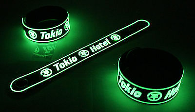 TOKIO HOTEL NEW! Glow in the Dark Rubber Bracelet Wristband Humanoid  vg65
