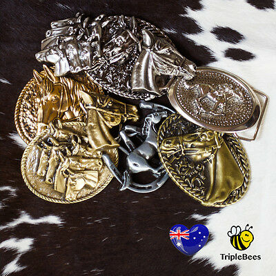 Equestrian,cowgirl,horserider, pony,rodeo belt buckles. FREE POST. AUS SELLER