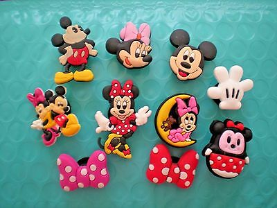 Clog Shoe Charm Plug Buttons Bands Mickey Mouse 10 Pcs Accessorie