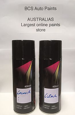 Car Touch Up Paint Spray Kit - 2 x Cans - FORD WINTER WHITE CODE A1