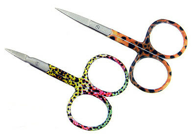 Rainbow and Brown Trout Skin Scissors / straight & arrow tip / fly fishing tools