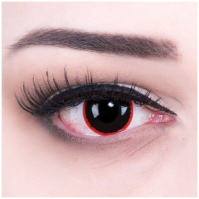 Coloured Contact Lenses Exorcism Contacts Color Halloween + Free Case