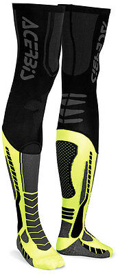 New Adult Acerbis X-Leg Full Length Motocross Enduro Socks Black & Yellow
