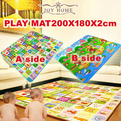 20mm 2mx1.8m Thick XXL Baby Kids Play Mat Floor Rug Picnic Cushion Crawling Mat