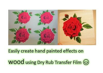Clear dry rub off transfer paper - Create rub on decals - Inkjet - Laser - A4