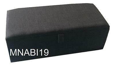 40 Inch Charcoal Grey Upholstered Ottoman Storage Box Blanket Toy Bedroom Trunk