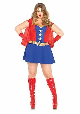 Leg Avenue 85432 Plus Size Wonder Women Comic Book Superhero Girl Costume