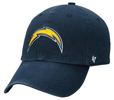 free shipping 542b8 026db NFL Los Angeles Chargers 47 Brand Adult Navy Clean Up Adjustable Hat  Relaxed-fit