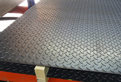 3mm TREAD Plate Durbar Floor mild steel checker - custom cut to size for free