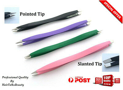 Double Eyebrow Plucker Puller Tweezers Slanted/pointed Tip Hair Removel